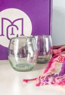 Hand Blown Wine Glasses Set 2
