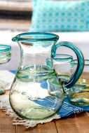 Hand Blown Glassware Pitcher