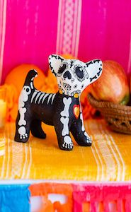 Hand Painted Dog Sculpture