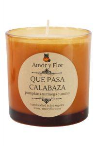 Que Pasa Calabaza Candle