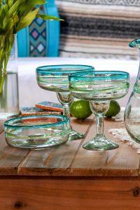 Hand Blown Margarita Glassware