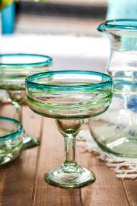 Mouthblown Margarita Glass