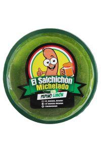 El Salchichon Michelado Pepino Limon Chamoy